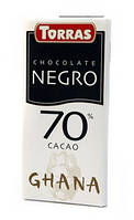 Шоколад Torras Negro 70% какао Іспанія 125г
