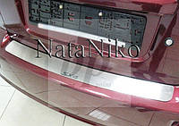 Защитная хром накладка на задний бампер (планка без загиба) Suzuki SX4 4D Sd(сузуки сх4 2005-2013)