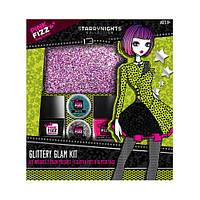 Набор из лаков для ногтей, блесток и блестящей косметички из США Pink Fizz Starry Nights