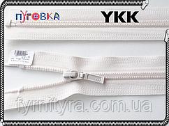 Молния спираль YKK 80cm 841 молочная 1бегунок разьемная