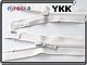 Молния спираль YKK 80cm 841 молочная 1бегунок разьемная, фото 2