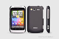 ROCK Naked Shell back cover for HTC Wildfire S A510e G13, black