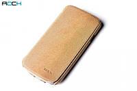 ROCK Big City side flip leather case for Samsung i9250 Galaxy Nexus, autumn yellow