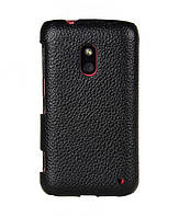 Melkco Snap leather cover for Nokia Lumia 620, black (NKLU62LOLT1BKLC)