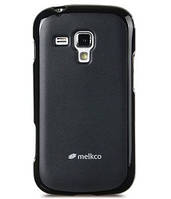 Melkco Poly Jacket TPU cover for Samsung S7562 Galaxy S DuoS, black (SS7562TULT2BКМТ)