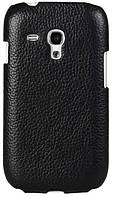 Melkco Snap leather cover for Samsung i8190 Galaxy S III Mini, black (SSGN81LOLT1BKLC)