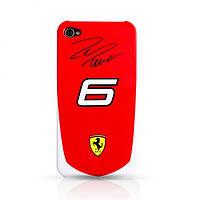 Ferrari Scuderia Massa №6 back cover for iPhone 4, red (FESA4G6R)