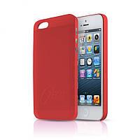 ItSkins Zero.3 cover case for iPhone 5/5S, red (APH5 ZERO3 REDD)