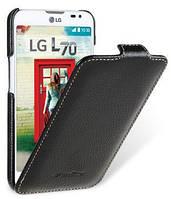 Jacka leather case for LG L70, black Melkco (LGDS70LCJT1BKPULC)