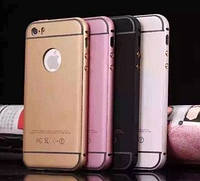 Bumper+Rubber back cover IPhone 5 Gold