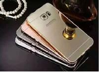 Бампер+зеркальная задняя крышка samsung S6 i9600