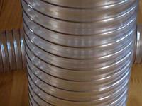 Шланги ПВХ гибкие, рукава из ПХВ армированные стальной омеднённой проволокой, гибкие гофрированные воздуховоды