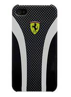 Ferrari Scuderia carbon back cover for iPhone 4, black/grey (FESCHCIPCB)