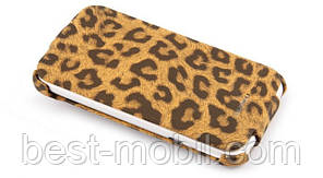 Nuoku LEO stylish leather case for HTC Sensation XL G21, brown