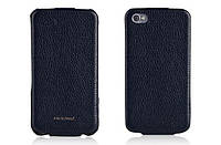 Nuoku ROYAL luxury leather case for iPhone 4/4S, blue