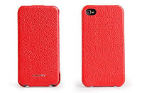 Nuoku ROYAL luxury leather case for iPhone 4/4S, red