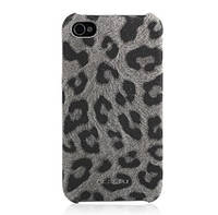 Nuoku LEO stylish leather cover for iPhone 4/4S, grey