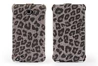 Nuoku LEO stylish leather case for Samsung i9220 Galaxy Note, grey