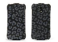 Nuoku LEO stylish leather case for Samsung i9250 Galaxy Nexus, black