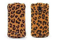 Nuoku LEO stylish leather case for Samsung i9250 Galaxy Nexus, brown
