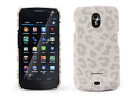 Nuoku LEO stylish leather cover for Samsung i9250 Galaxy Nexus, white