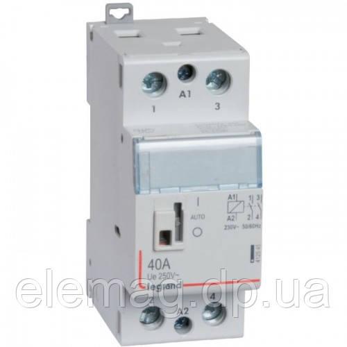Контактор модульный 40 А с катушкой на 230 В 2НО Legrand