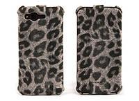 Nuoku LEO stylish leather case for HTC Rhyme G20, grey