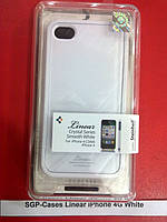 SGP Linear Case for iPhone 4G white