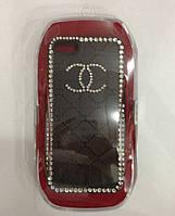 С камнями Chanel soft drill shell for iPhone 5/5S, black