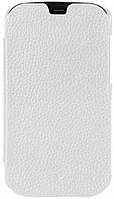 Melkco Book leather case for HTC One Dual Sim, white (O2M7DSLCFB2WELC)
