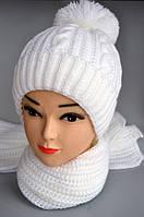Зимний шарф плотная вязка , фото 1