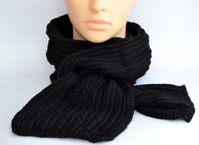 Универсальный зимний шарф на шею