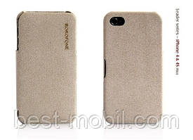 Borofone Pilot leather case for iPhone 4/4S, grey