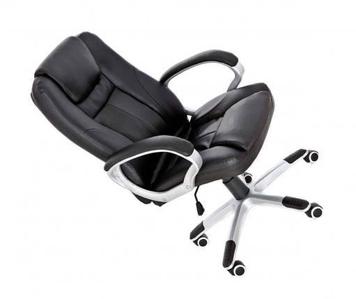 Офисное кожанное кресло NEOS черное, фото 2