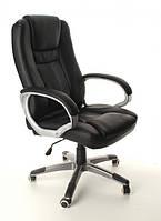 Офисное кожанное кресло NEOS черное