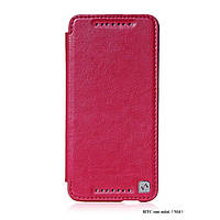 HOCO Crystal leather case for HTC One Mini, rose red (HT-L012)