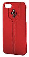 Ferrari Montecarlo leather cover case for iPhone 5/5S, red (FEMTHCP5RE)