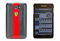 Ferrari Carbon back cover for Samsung i9220 Galaxy Note, red (FECBGNRE)