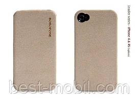 Borofone Explorer leather case for iPhone 4/4S, grey