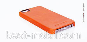 Borofone General leather cover case for iPhone 5/5S, orange (BI-BL010)