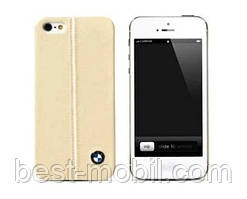 BMW Signature collection leather cover case for iPhone 5/5S, cream (BMHCP5LC)
