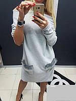 Теплое платье на флисе бат 137.1 (040)