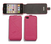 IMOBO leather case for iPhone 4/4S, pink (SFCIP06PK)