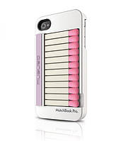 MUSUBO Matchbook Pro back cover for iPhone 4, white (MU11009WE)