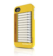 MUSUBO Matchbook Pro back cover for iPhone 4, yellow (MU11009YW)