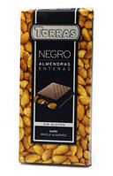 Шоколад  Torras черный с цельным миндалем  Испания 200г