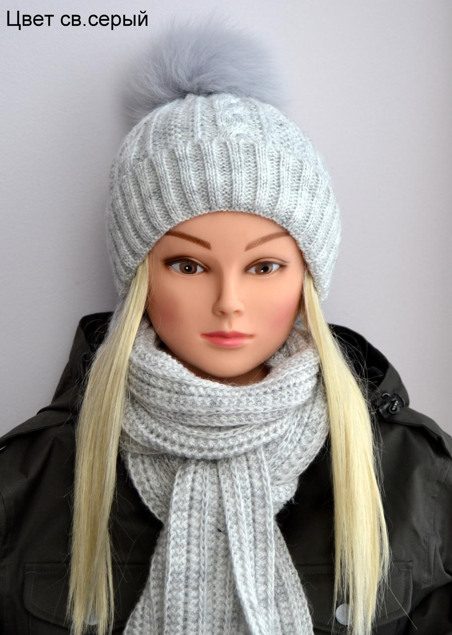 Красивая зимняя шапочка на девочку