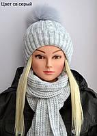 Красивая зимняя шапочка на девочку, фото 1