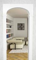 Межкомнатная арка Прима-Эллипс 20 см, Проем 80 см