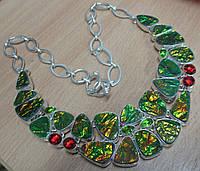 """Экзотическое колье с аммолитом """"Крыло бабочки"""",  от Студии  www.LadyStyle.Biz"""